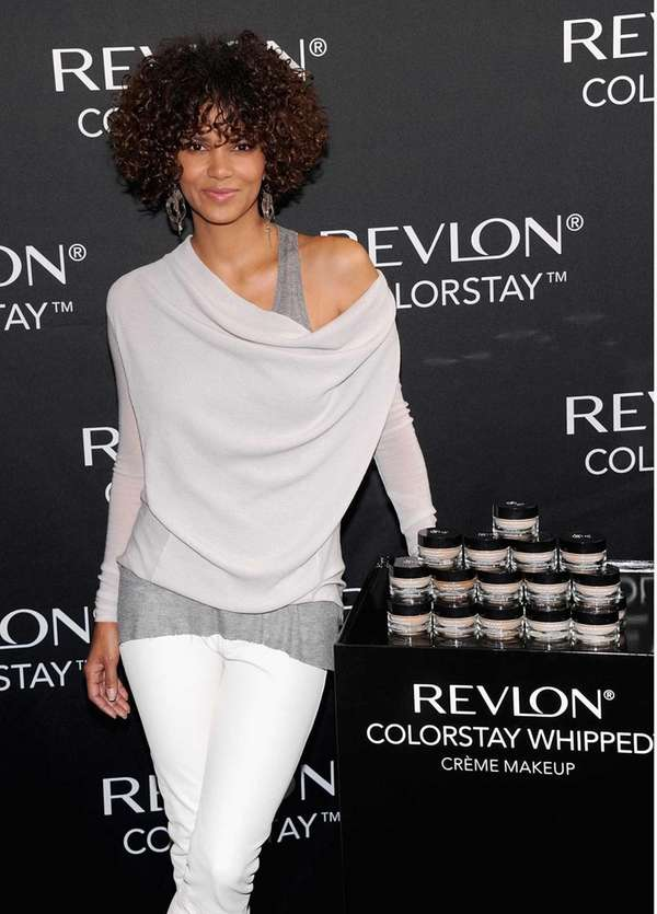 Halle Berry attends the Revlon ColorStay Whipped Creme