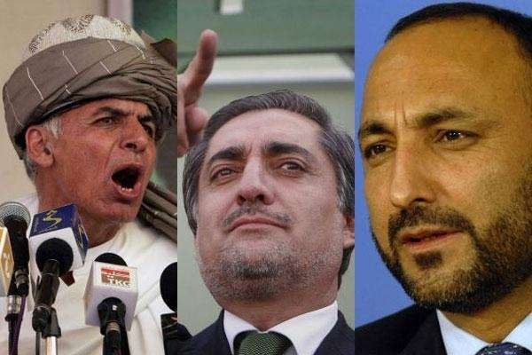 From left-to-right, favorites for the Afghan presidency Ashraf