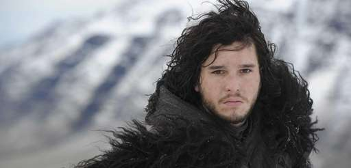 "Kit Harington plays Jon Snow in ""Game of"