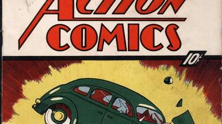 The June 1938 cover of Action Comics, the