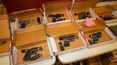 Ghost guns on display on Oct. 5, 2019
