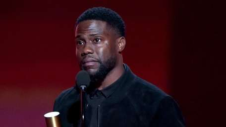 Kevin Hart accepts the award for Comedy Act