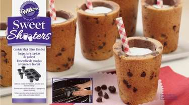 Create edible shot glasses out of cookie dough,