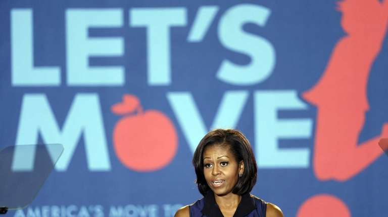 First lady Michelle Obama discusses her Let's Move!