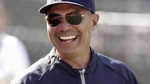 New York Yankees' Reggie Jackson smiles on the