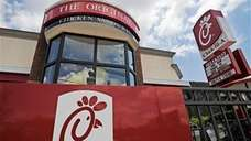 A Chick-fil-A fast food restaurant in Atlanta. Gay