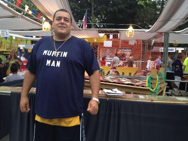 "Ed Perez, 44, is the ""Muffin Man"" at"