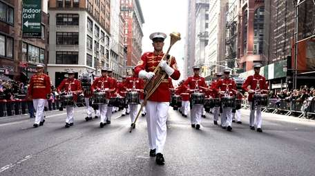 The United States Marine Band marches Monday in