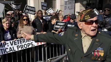 A World War II veteran named Jimmy, right,
