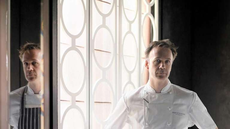 Chef Marcus Warering at his eponymous restaurant Marcus