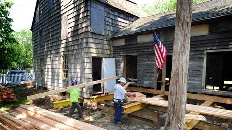 Restoration work is already under way at the
