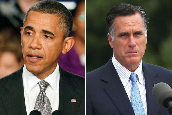 President Barack Obama and Republican presidential candidate Mitt