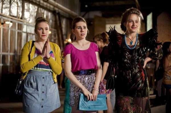 From left, Lena Dunham, Zosia Mamet and Jemima