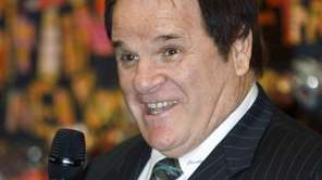 Pete Rose speaks at the Ohio Justice &