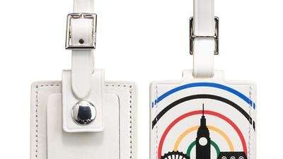 Tumi offers a leather luggage tag with a