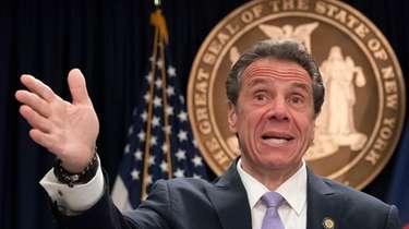 Gov. Andrew M. Cuomo speaks in Manhattan office