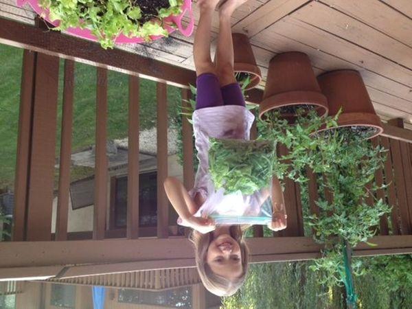 Emma Pnini, 6 1/2, of Roslyn is growing