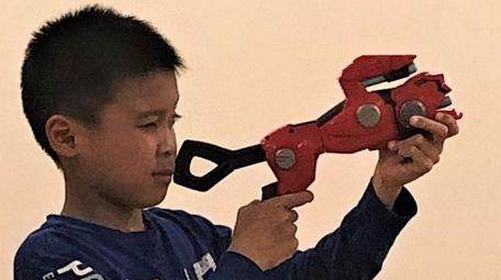Kidsday reporter Aaron Chen tests the Cheetah Beast