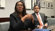 New York Attorney General Tish James visited the