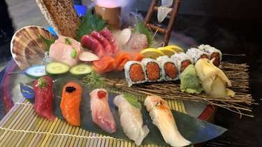 The sushi and sashimi combo at Umami, a