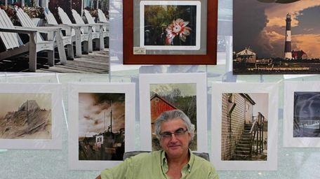 Jim Sabiston, 58, of Bay Shore displays his