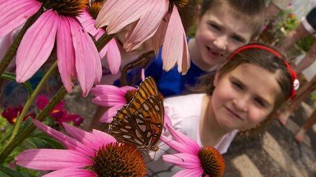 Six-year-old twins Kylie and Brett Drakos, of Huntington,