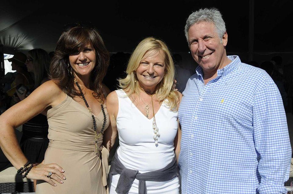 Elaine Saladino, Debra Halpert and Bob Epstein hang