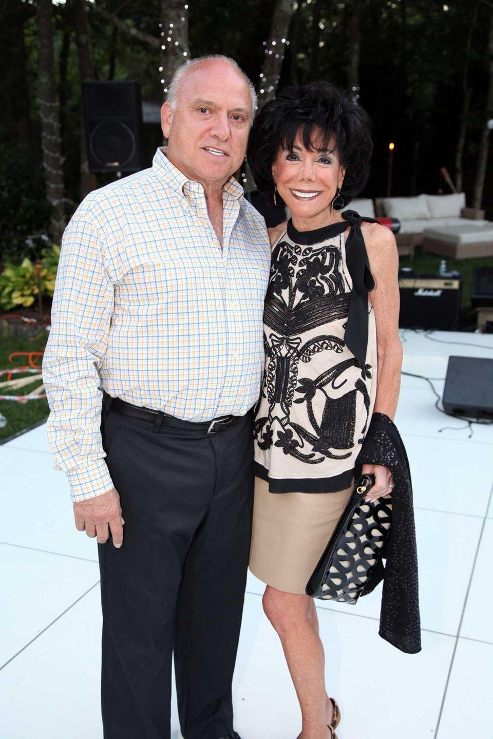 David Feinsod and Carole Feinsod attend the Hamptons