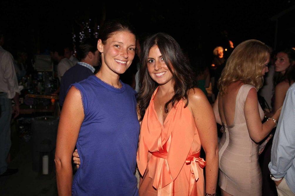 Georgia Kakiris and Victorine Deych attend the Hamptons