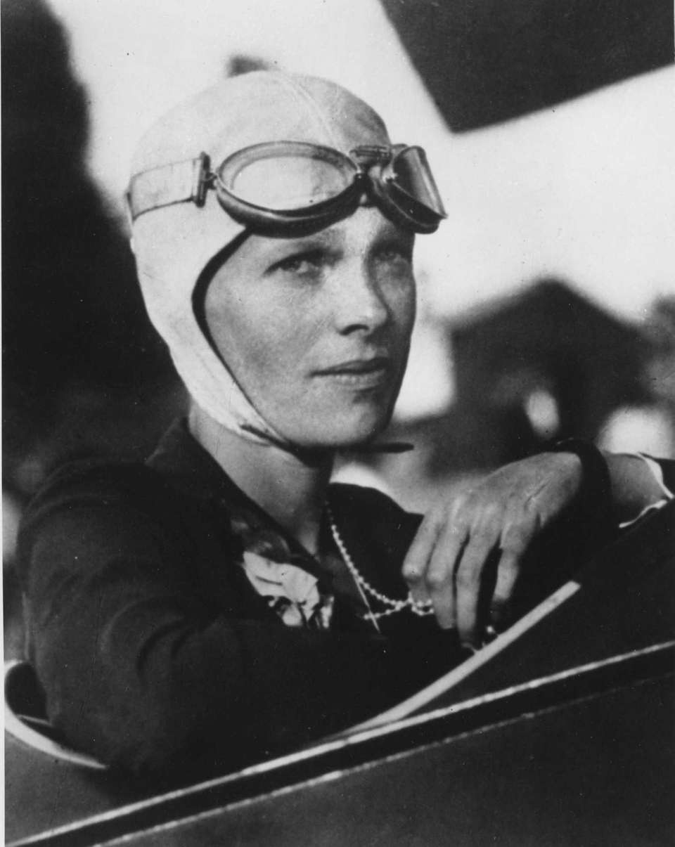 1930s: Amelia Earhart, who along with other women