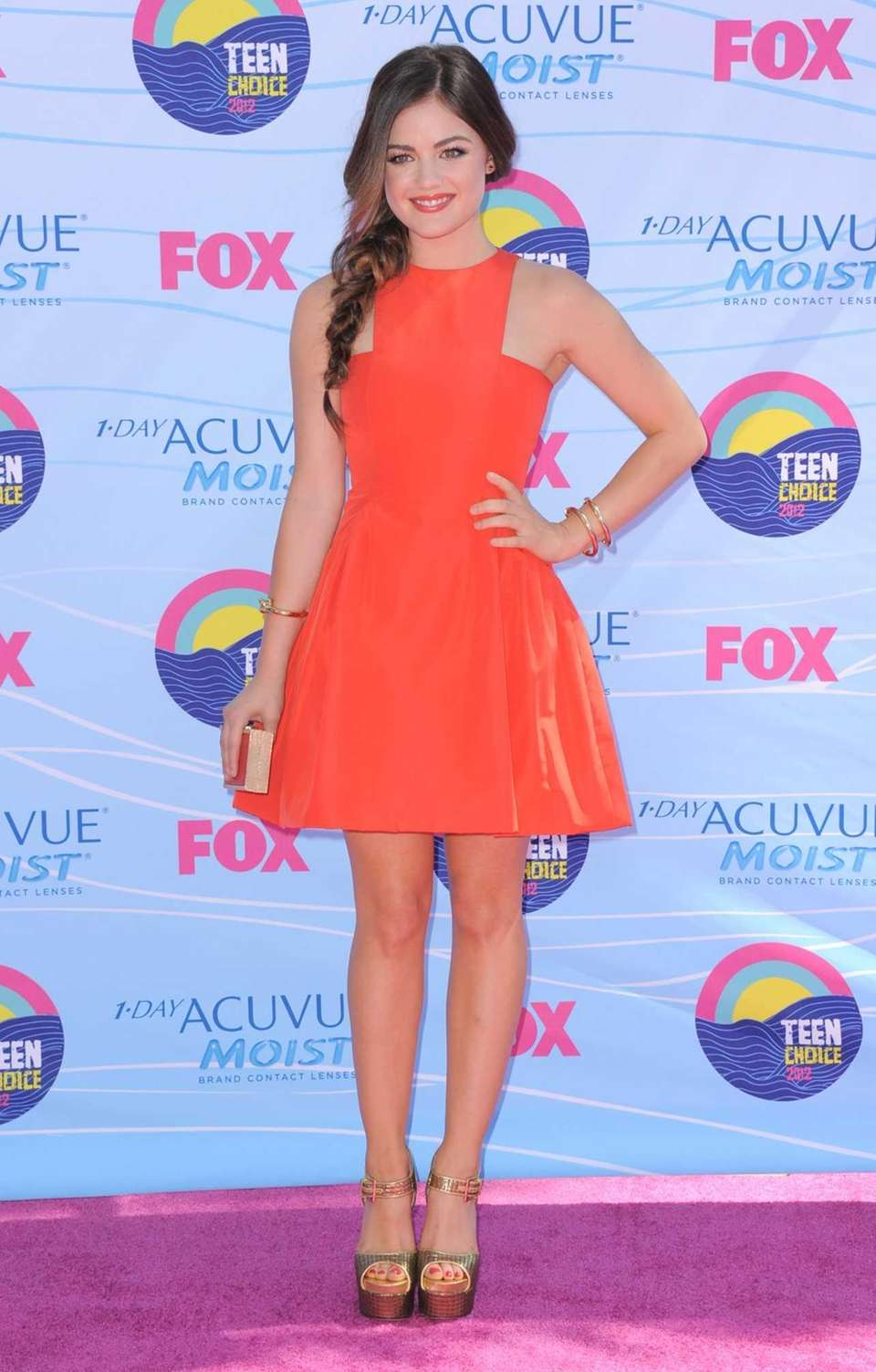 Lucy Hale arrives at the Teen Choice Awards