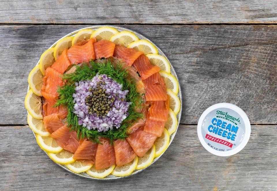 Smoked Salmon Platters from Stew Leonard's (stewleonardscatering.com) come