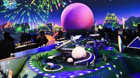 A view of a film presentation Epcot Center