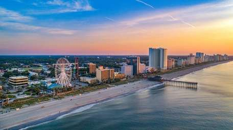 The pier in Myrtle Beach, S.C., is a