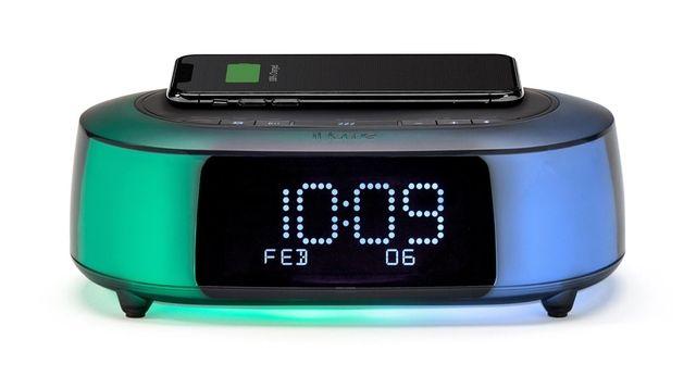 The AC-powered iHome iBTW281 dual alarm clock speaker