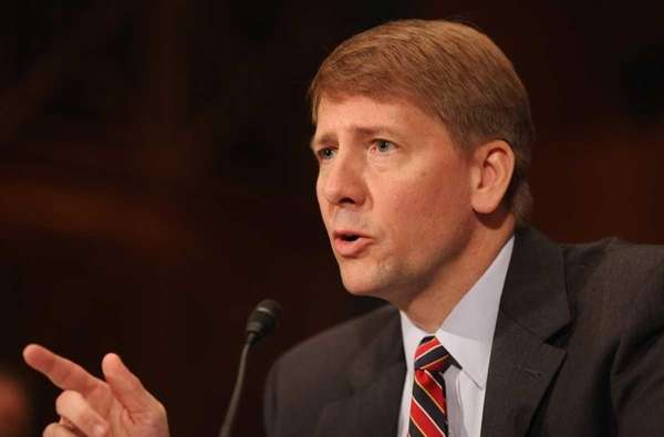 Richard Cordray testifies during his confirmation hearing before