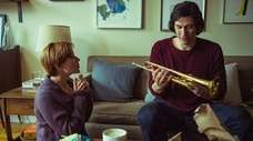 "Scarlett Johansson (left) and Adam Driver in ""Marriage"