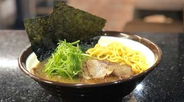 A bowl of pork ramen at Teinei Ya,