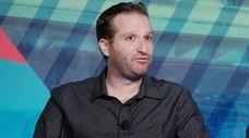 WFAN Radio host Evan Roberts speaks at the