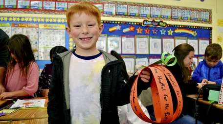 Connor Carriddi, a first-grader at Marion Street Elementary
