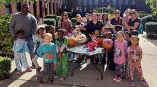 Kindergartners and their parents at William E. DeLuca