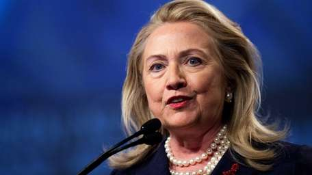 US Secretary of State Hillary Clinton speaks during