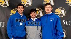 Aidan Danenza (L), Jake Naso (M), and Brennan