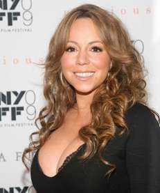 Mariah Carey beams at the 2009 New York