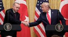 President Donald Trump with Turkish President Recep Tayyip
