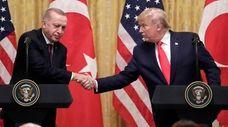 President Donald Trump with Turkish President Recep Tayyip
