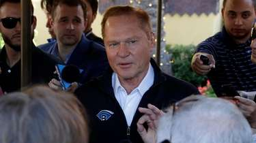 Sports agent Scott Boras speaks to the media