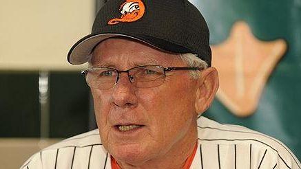 Bud Harrelson in Ducks cap
