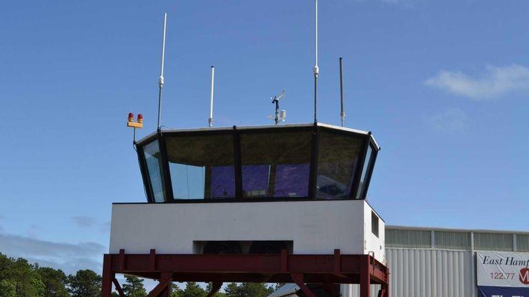 The new seasonal control tower at East Hampton