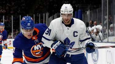 John Tavares #91 of the Toronto Maple Leafs
